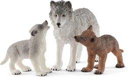 Schleich  Wild Life -  Moeder wolf met welpen - 42472