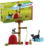 Schleich Farm world -  Krabpaal set met katten -  42501