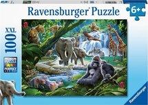 Ravensburger Puzzle - Dschungeltiere - 100 Stück XXL