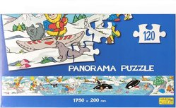 Puzzle Panorama Dschungel - Kinderpuzzle 120 Teile - 1750 x 200 mm - Tiere