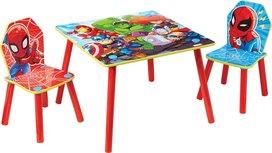 Tafel met stoelen voor kinderen - Marvel Spiderman