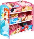 Disney Prinzessinnen - Aufbewahrungsschrank für Spielzeug mit 6 Behältern