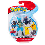 Pokemon - Battle Feature Speelfiguur 3 -pack  - Pikachu, Zorua, Lucario
