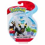Pokemon - Battle Feature Speelfiguur 3 -pack  - Piplup, Oddish, Umbreon