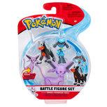 Pokemon - Battle Feature Speelfiguur 3 -pack  - Riolu, Houndour, Espeon
