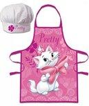 Disney Classics - Marie  Kochschürze mit Kochmütze - pink