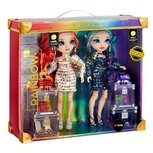 Rainbow High Twins Laurel and Holly De'vious - Modepop