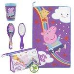 Peppa Pig toilettasje - incl borstel - handdoek - beker