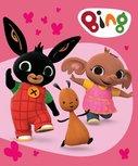 Bing fleecedeken - roze