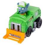 Paw Patrol rescue racers  - Rocky vuilniswagen met fronthef