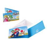 Super Mario Bros uitnodigingen, 8 st