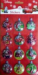 Cars kerst bubble 3D stickers