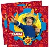 Brandweerman Sam servetten, dubbelbedrukt