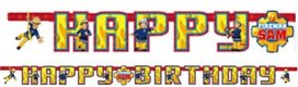 Brandweerman Sam happy birthday slinger