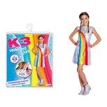 K3 regenboog jurkje, verkleedjurk maat 134