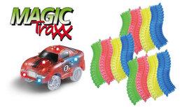 Magic Traxx Racebaan 223-delig, glow in the dark met rode auto