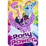 My little pony fleece deken Pony Power