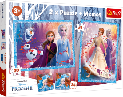 Frozen 2 - 2 x puzzle and 1 x memo