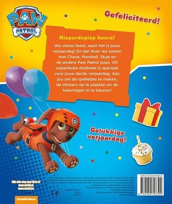 Paw Patrol verjaardagsboek - Hoera 3 jaar