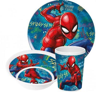 Spiderman ontbijtset - blauw