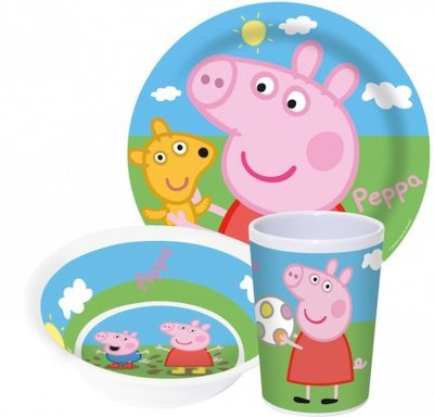 Peppa Pig ontbijtset - melamine
