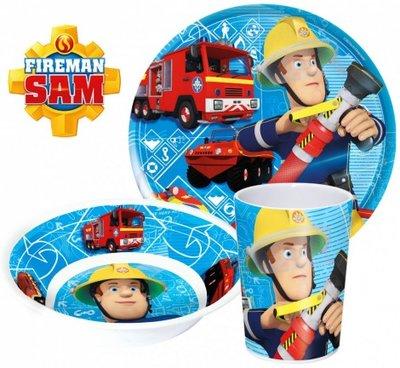 Brandweerman Sam ontbijtset - melamine