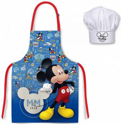 Mickey Mouse kookschort met koksmuts