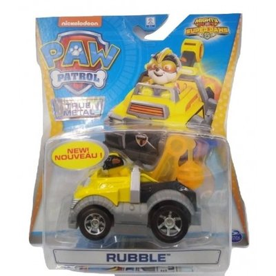 Paw Patrol Die cast voertuig - Mighty Rubble- 7 cm