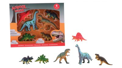 Dino giftset - klein - 6 delig