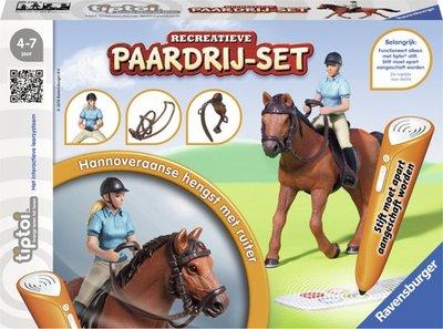 Tiptoi - Paardrijset + boek; wereld van paarden en pony's