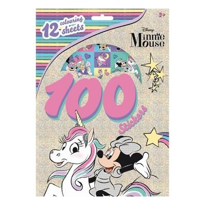 Minnie mouse kleurplaten set met stickers