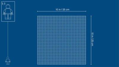 LEGO Classic - Blauwe Bouwplaat - 10714