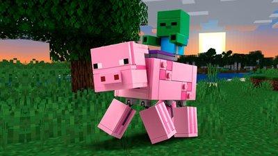 LEGO Minecraft - BigFig Varken met Babyzombie - 21157