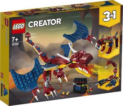 LEGO Creator - Vuurdraak - 31102