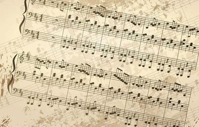 Fotobehang muziek noten balk nr 180