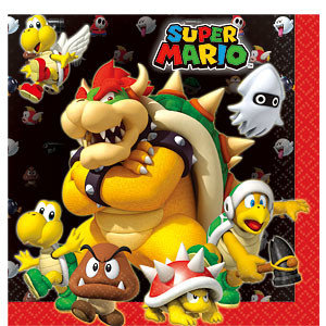 Mario Bros servetten.
