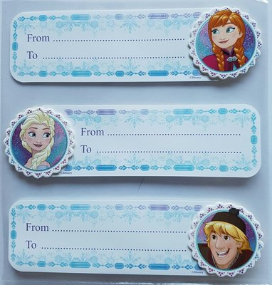Disney Frozen 3D cadeaustickers