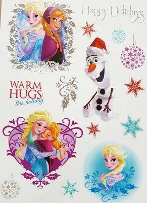Frozen Kerst Raamstickers