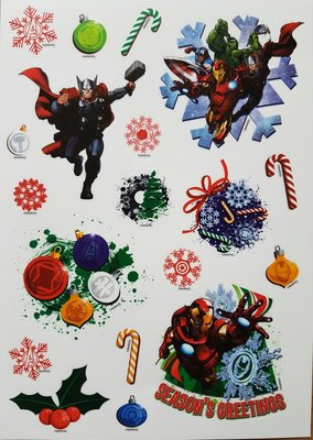 Avengers Kerst Raamstickers