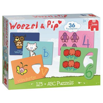 Woezel en Pip abc en 123 puzzel