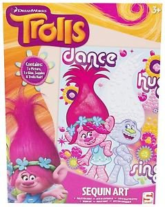 Trolls sequin art set