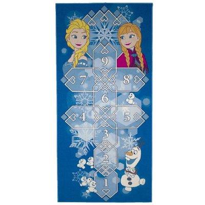 Frozen hinkelspel vloerkleed 95 x 200 cm