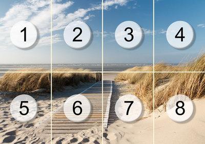 Fotobehang pad door de duinen, nr 410,  400 x 280 cm