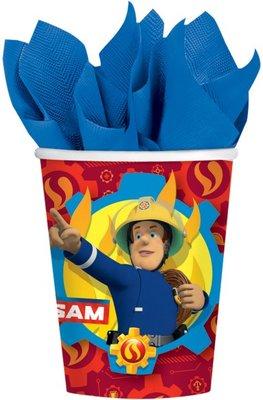 Brandweerman Sam bekertjes