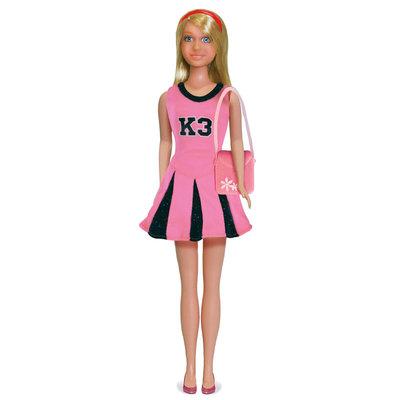 K3 cheerleader jurk, outfit voor tienerpop