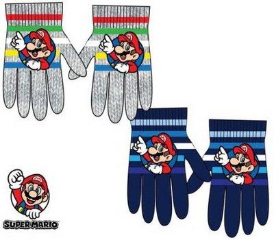 Super Mario Bros handschoenen grijs