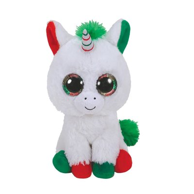 Ty Beanie Boo's Kerst Candy Unicorn, 15 cm