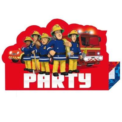 Brandweerman Sam uitnodigingen, 8 st