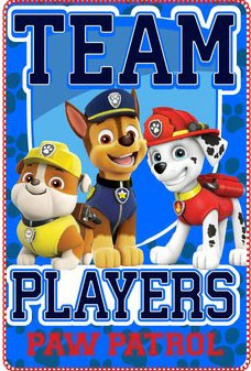 Paw Patrol fleece deken: Team Players