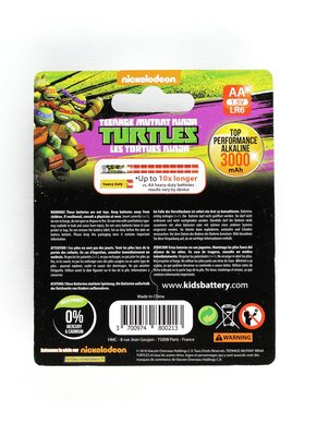 Batterijen Turtles AA